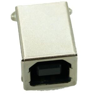 USB 2.0 Connector B TYPE, MID Solder in, Copper, Gold