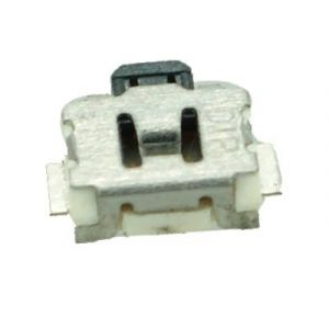 SIDE SMD Button - 2 PIN, Nickel, Silver/Black